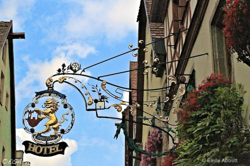 Signs of Rothenburg