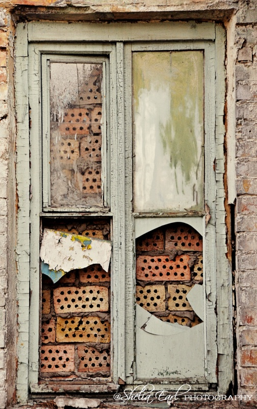 Old Window Frame@@Kiev, Ukraine