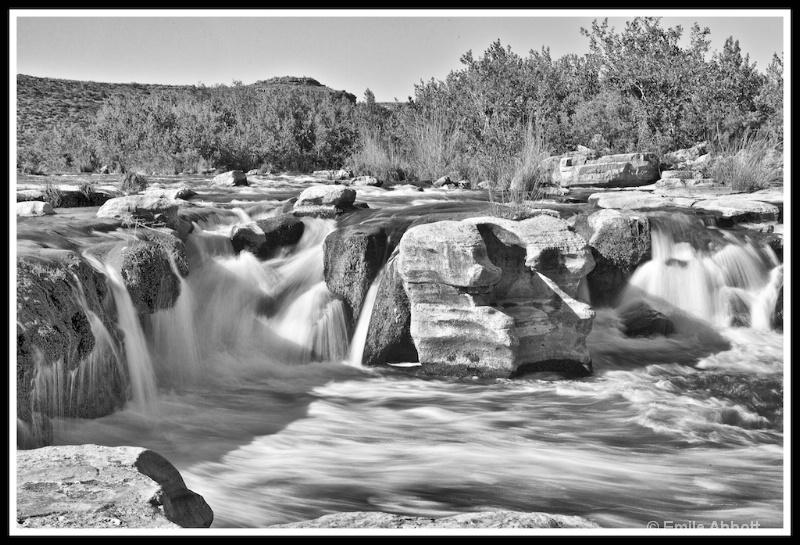 Dolan Falls in B&W