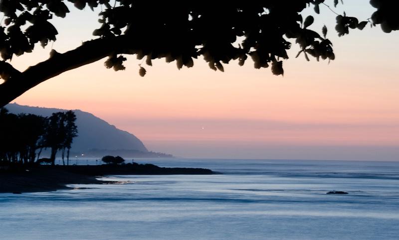 Sunset on Haleiwa Beach
