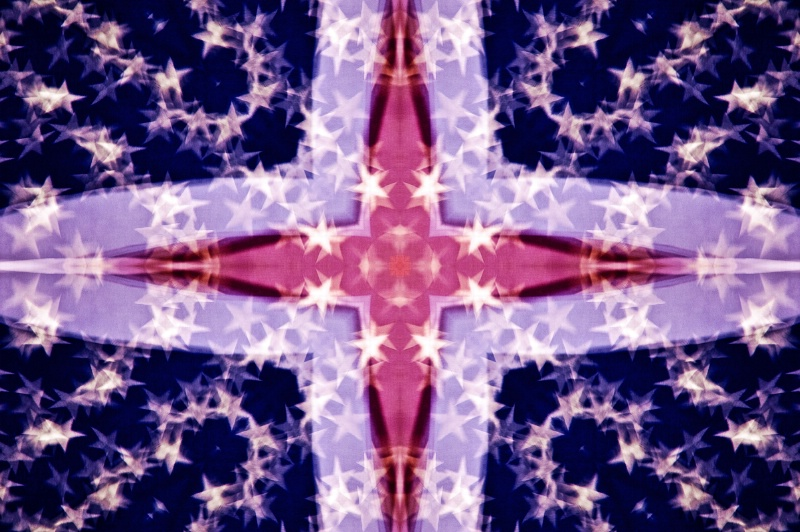 US Flag Multi-Exposure--Kaleidoscope