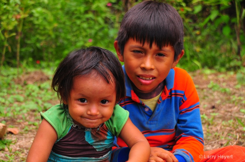 Peru- children from Ese Eja tribe