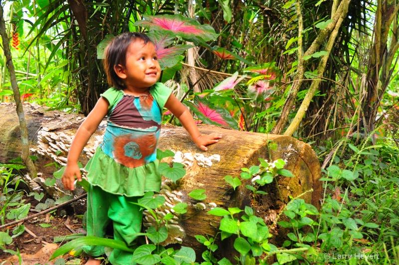 Peru- girl from Ese Eja tribe