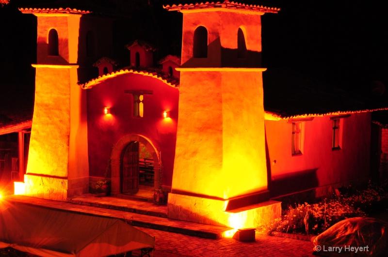 Peru- church in Urubamba Valley