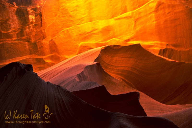 Textures of Antelope Canyon
