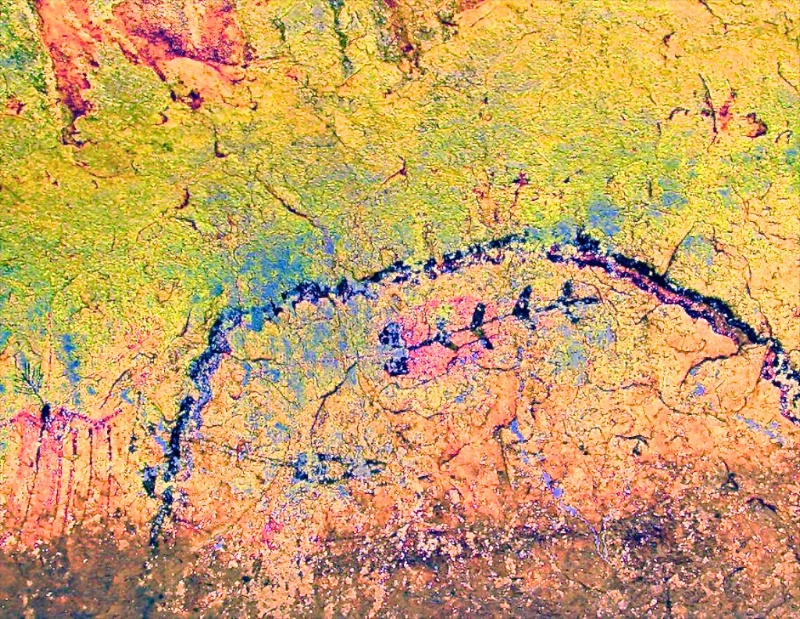Rock Art using ybk color space