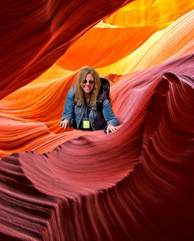 Karen and Antelope Canyon: Perfect Together!