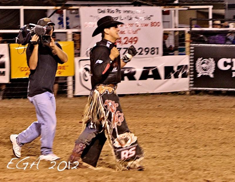 A very happy Bull Rider
