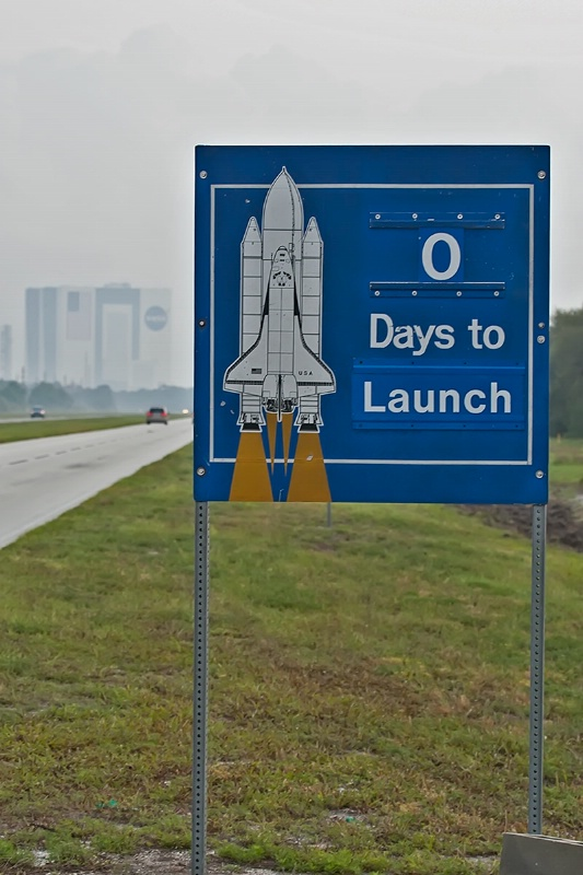 0 Days to Launch Sign