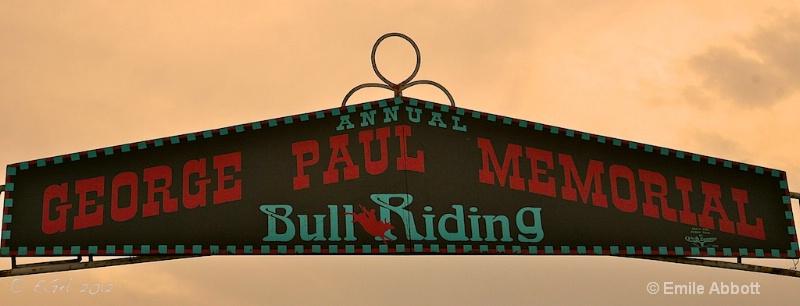 George Paul Memorial Bull Riding