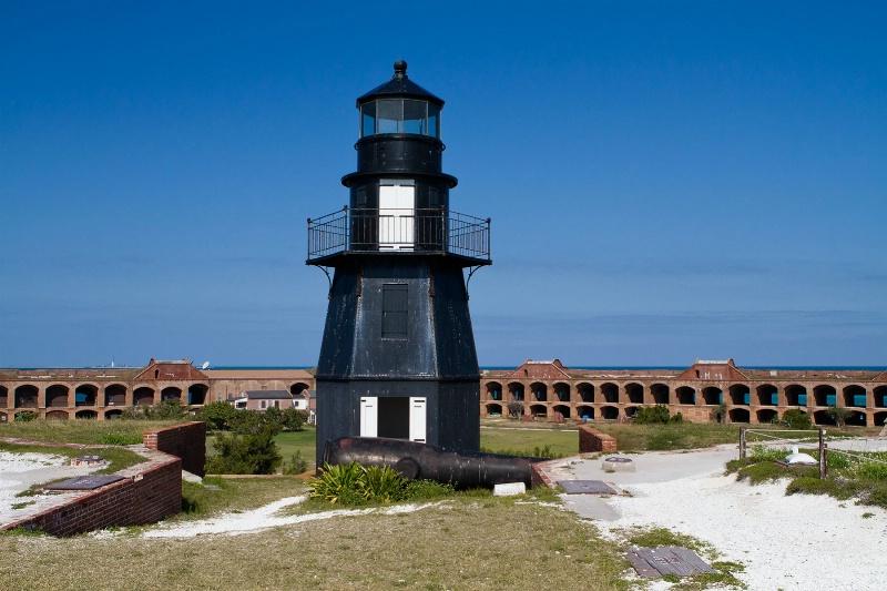 Lighthouse inside Fort Jefferson