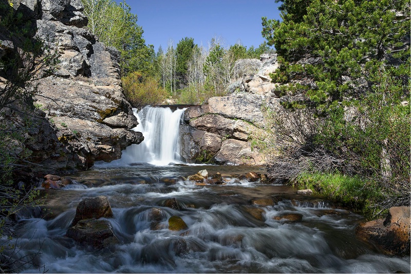 Red Lake Creek Waterfall, Hope Valley, CA