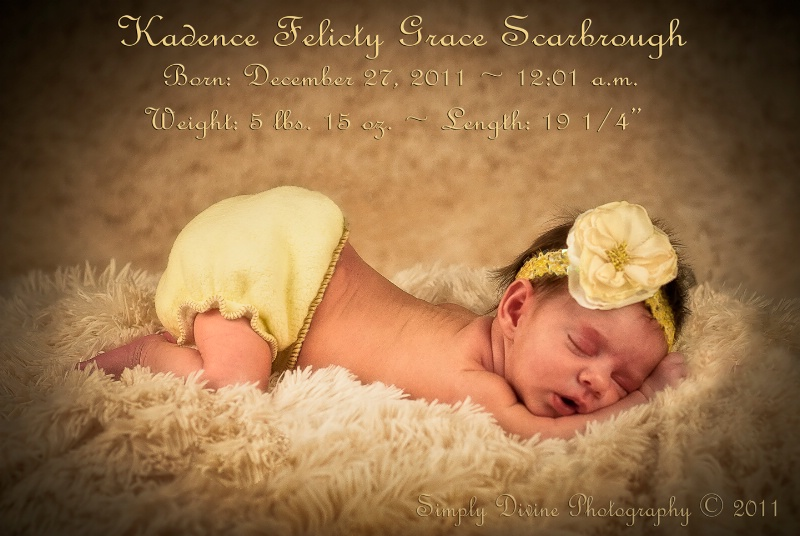 Welcome to our family Baby Kadence