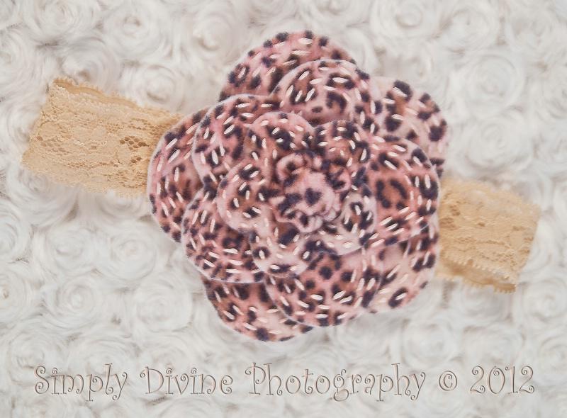 Pink Leopard Headband