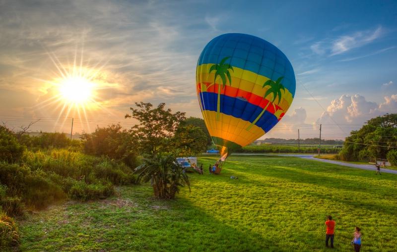 Ballooning at Sunrise