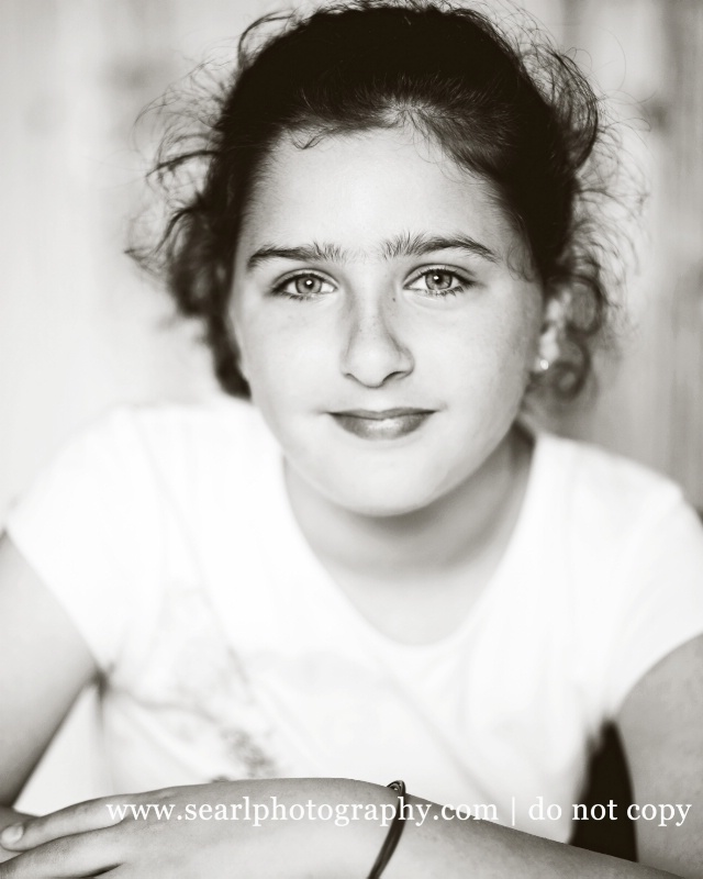 Teen Portrait@@BW in Athens, Greece