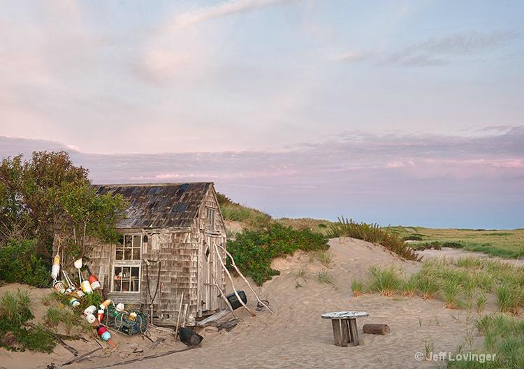 Dune shack at Sunrise