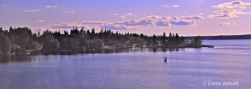 Canadian Lake near dusk.