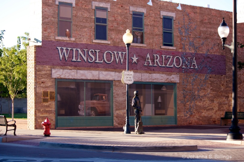 Standing on a Corner in Winslow, Arizona