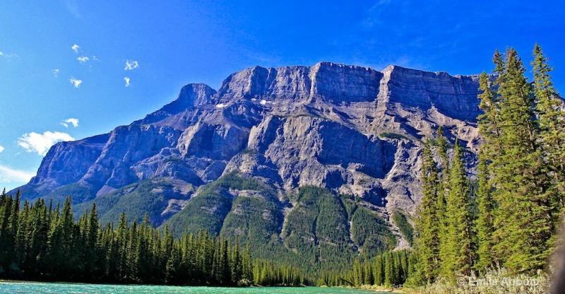 "Mount Rundle ""Mile high rock face"""