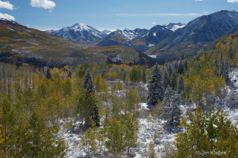 Fall snow - Summit of McClure Pass