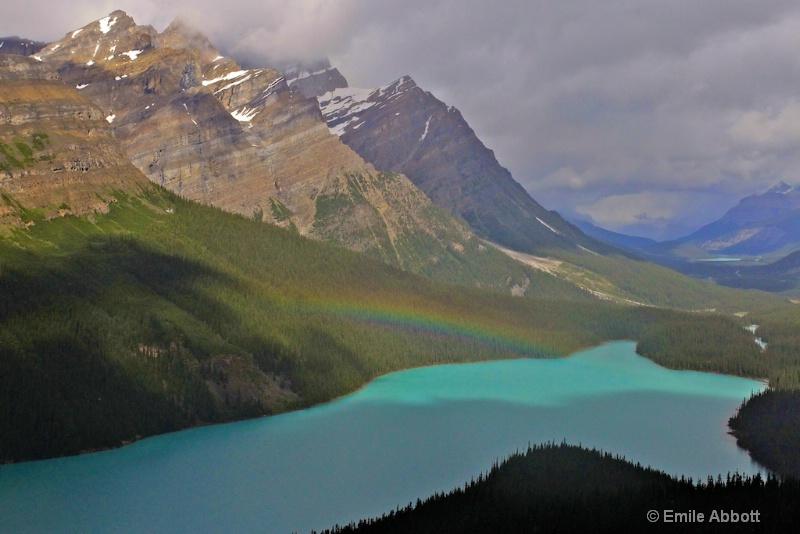 Rainbow over Peyto Lake for Laura Swan