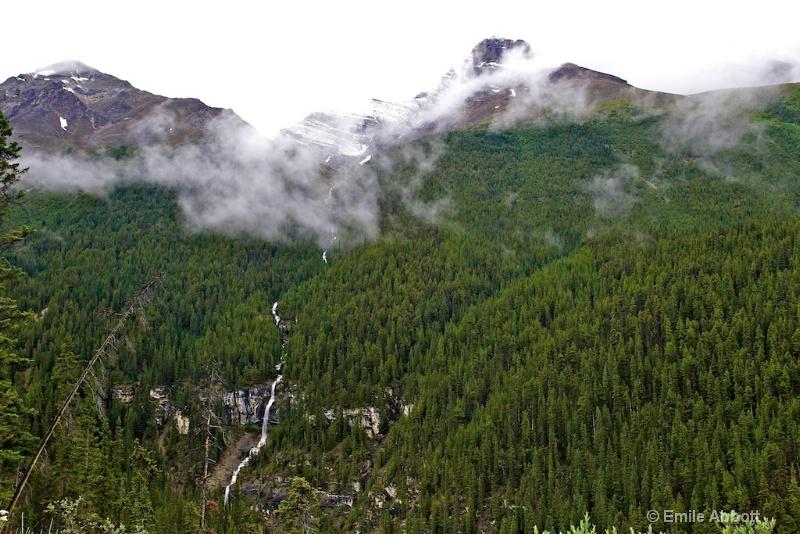 Clouds over Bridal Veil Falls