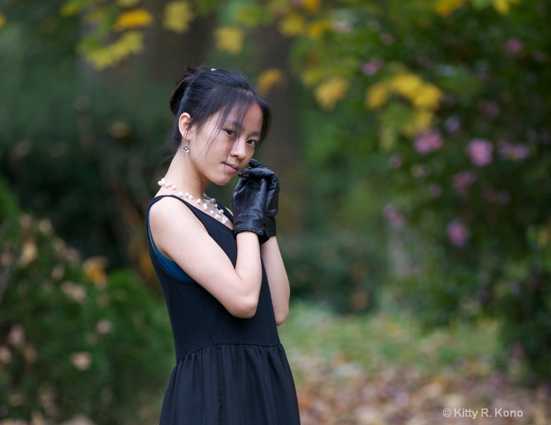 Yumiko in Gloves