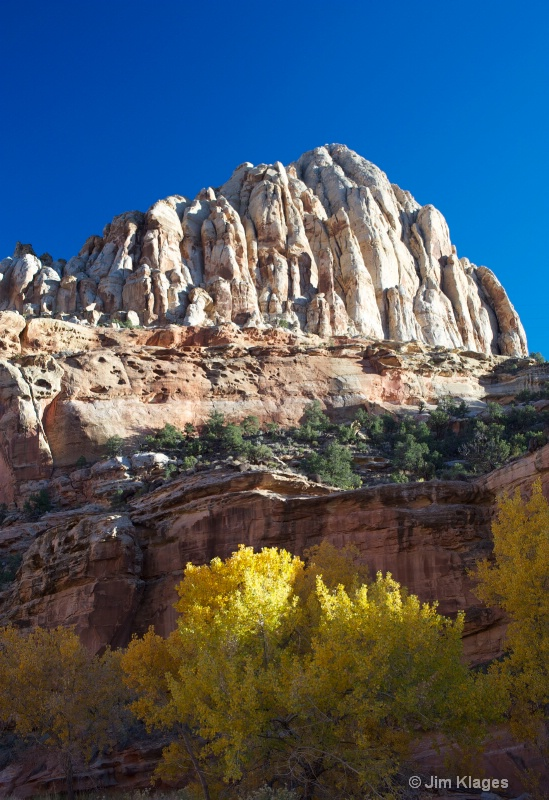 Rock formation with fall color