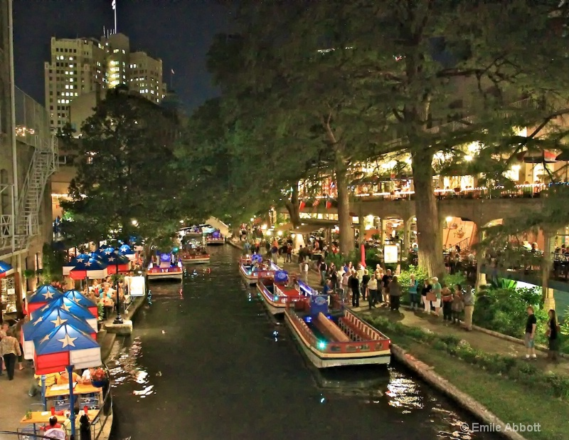 Night on San Antonio's Riverwalk