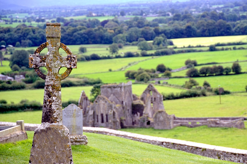 Celtic cross on a hill