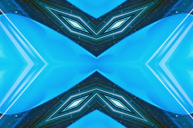 Blue Glass--Kaleidoscope