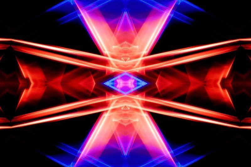 Seattle Light Abstract--Kaleidoscope