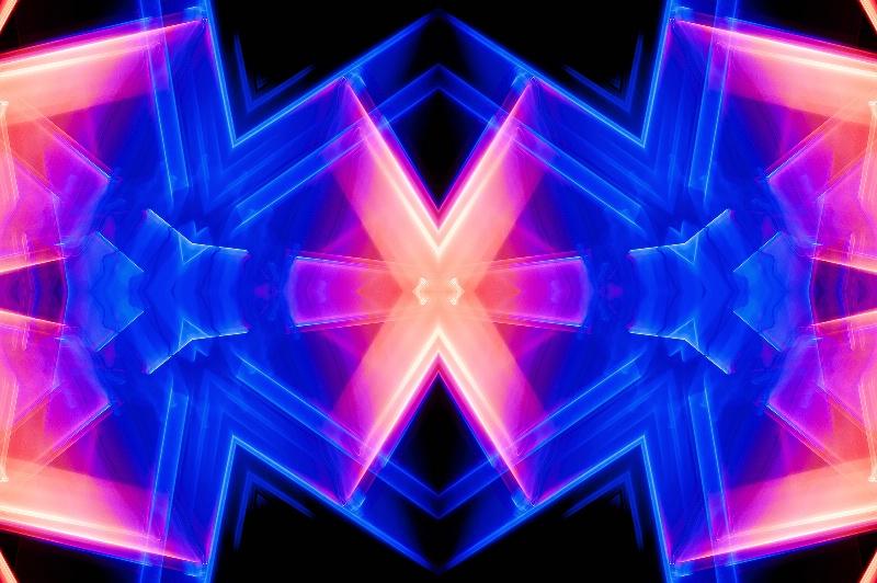 Seattle Light Abstract--Kaleidoscope #3