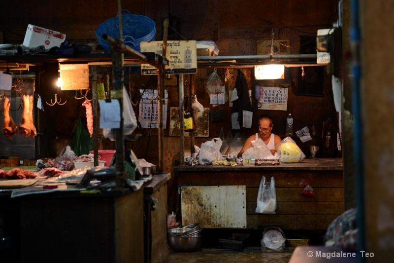 Portrait of Shopkeeper @ Wet Market