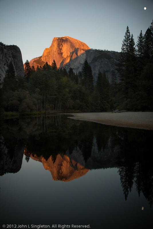 Sunset Reflection  -  Half Dome