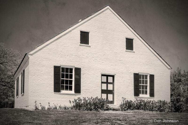 Antietam B&W Church with Texture