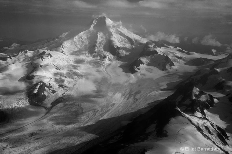 Snow Capped Peak in August - Alaska