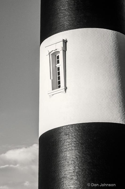 Bodie B&W Lighthouse Window
