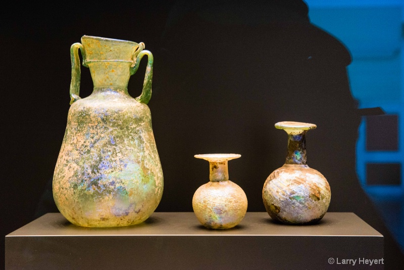 Ancient Pottery On Display
