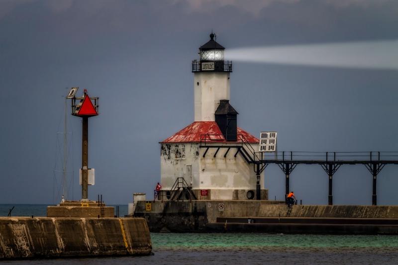 Michigan City Lighthouse East Pierhead