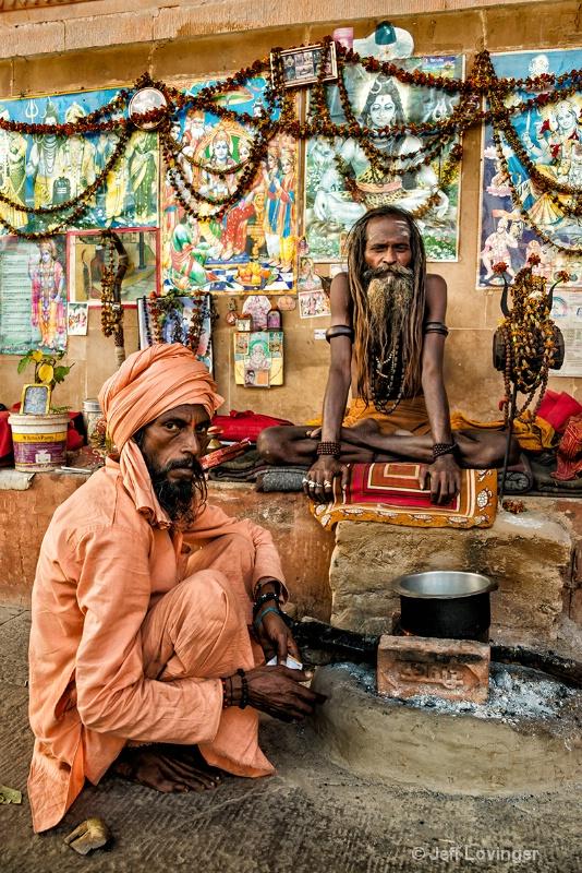 Sadhu and Devotee, Varanassi, India