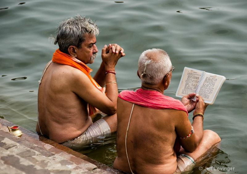 Scriptures on the Ganges, Varanassi, India