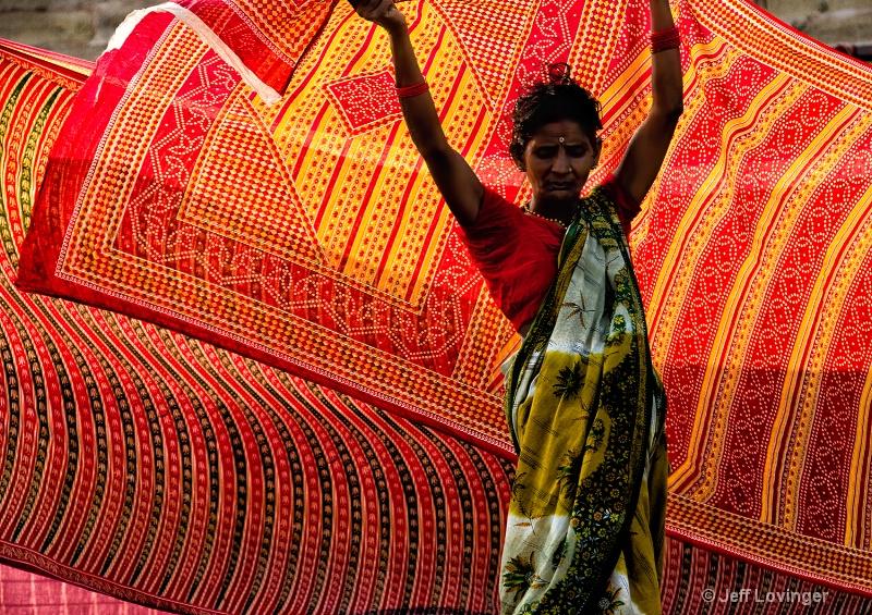 Saris in the Wind, Varanassi, India
