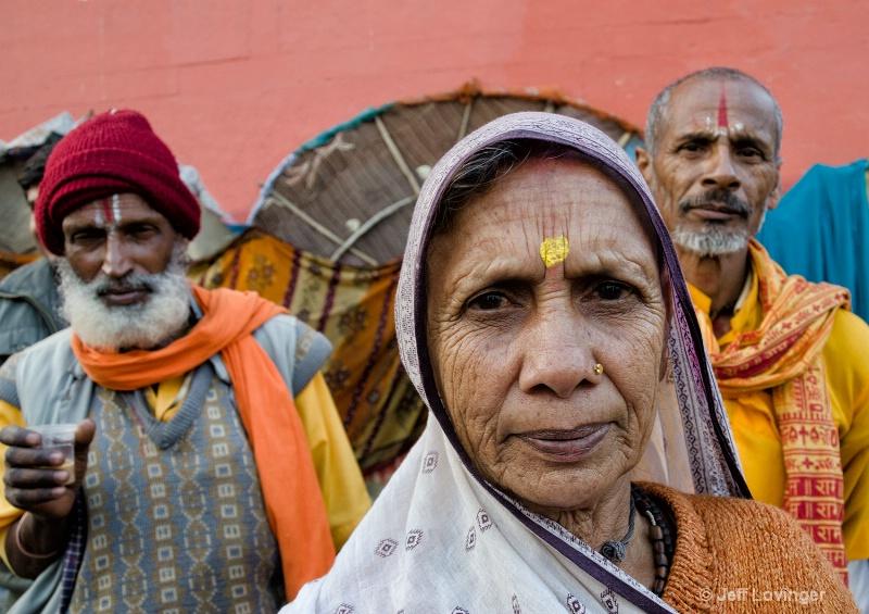 Three Pilgrims, Varanassi, India