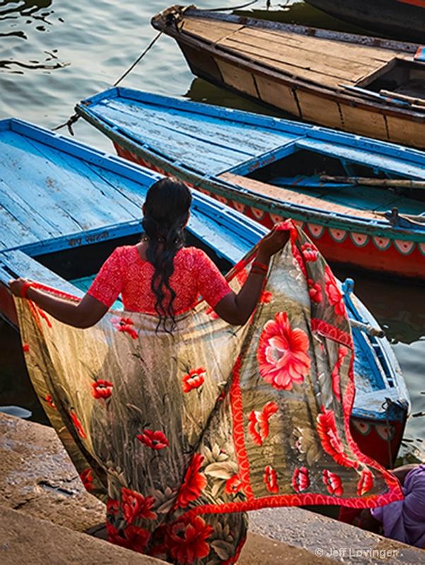 Sari Wrap, Varanassi, India