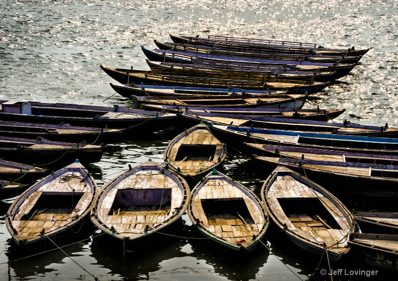 Boats on the Ganges, Varanassi, India