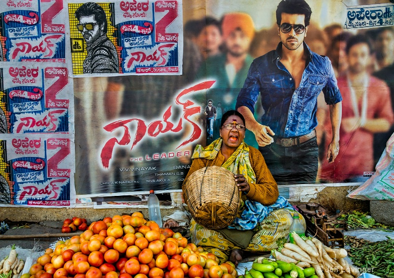 Market and Bollywood, Mysore, India