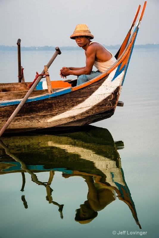 Rower on the Lake, Amarapura, Myanmar
