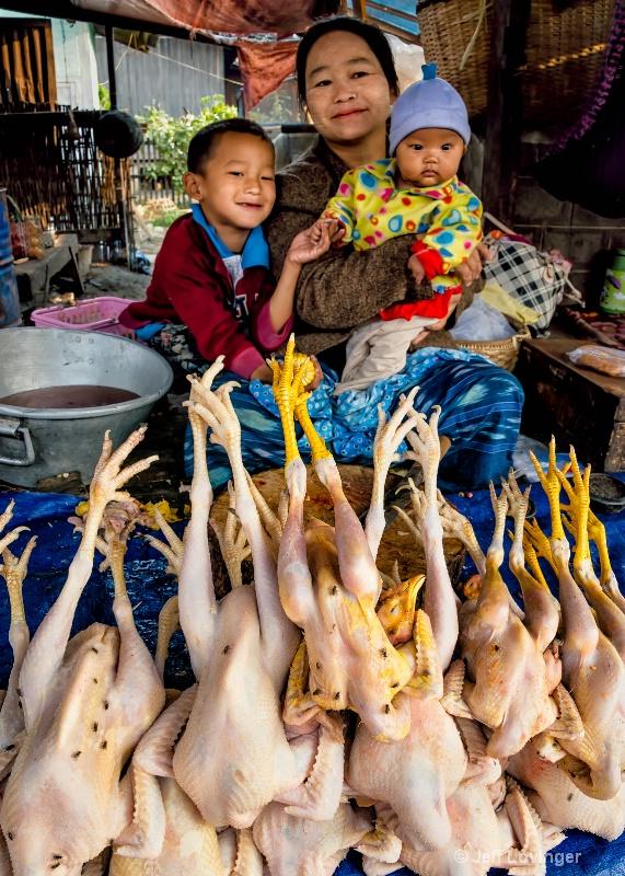 Market Chickens, Nyaungshwe, Inle Lake, Myanmar